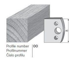 Pilana profilkés No. 00 maróblanketta 40x4,0 mm