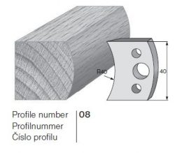 Pilana profilkés No. 08 maróblanketta 40x4,0 mm