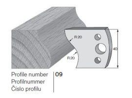 Pilana profilkés No. 09 maróblanketta 40x4,0 mm