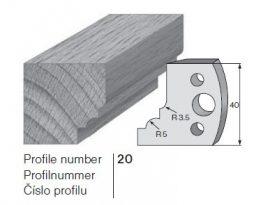 Pilana profilkés No. 20 maróblanketta 40x4,0 mm