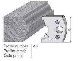 Pilana profilkés No. 25 maróblanketta 40x4,0 mm