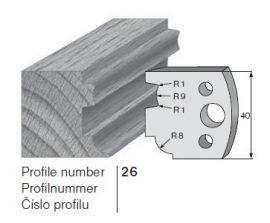 Pilana profilkés No. 26 maróblanketta 40x4,0 mm