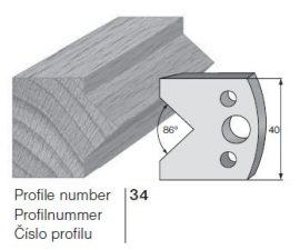 Pilana profilkés No. 34 maróblanketta 40x4,0 mm