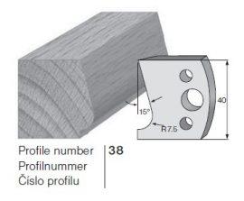 Pilana profilkés No. 38 maróblanketta 40x4,0 mm