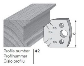 Pilana profilkés No. 42 maróblanketta 40x4,0 mm