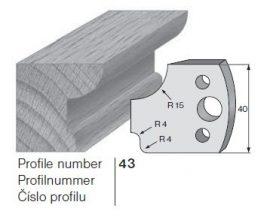 Pilana profilkés No. 43 maróblanketta 40x4,0 mm