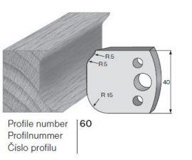 Pilana profilkés No. 60 maróblanketta 40x4,0 mm