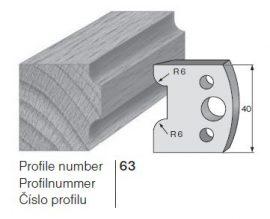 Pilana profilkés No. 63 maróblanketta 40x4,0 mm