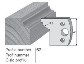Pilana profilkés No. 67 maróblanketta 40x4,0 mm