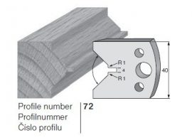 Pilana profilkés No. 72 maróblanketta 40x4,0 mm