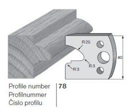 Pilana profilkés No. 78 maróblanketta 40x4,0 mm