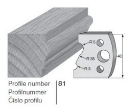 Pilana profilkés No. 81 maróblanketta 40x4,0 mm
