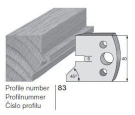 Pilana profilkés No. 83 maróblanketta 40x4,0 mm