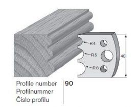 Pilana profilkés No. 90 maróblanketta 40x4,0 mm
