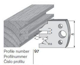 Pilana profilkés No. 97 maróblanketta 40x4,0 mm