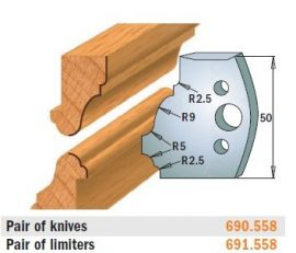 HSS fogásvastagság határoló No. 558 B=50 CMT 691.558