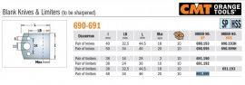 HSS fogásvastagság határoló No. 599 B=50 CMT 691.599