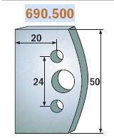 HSS marólapka No. 500 B=50 CMT 690.500